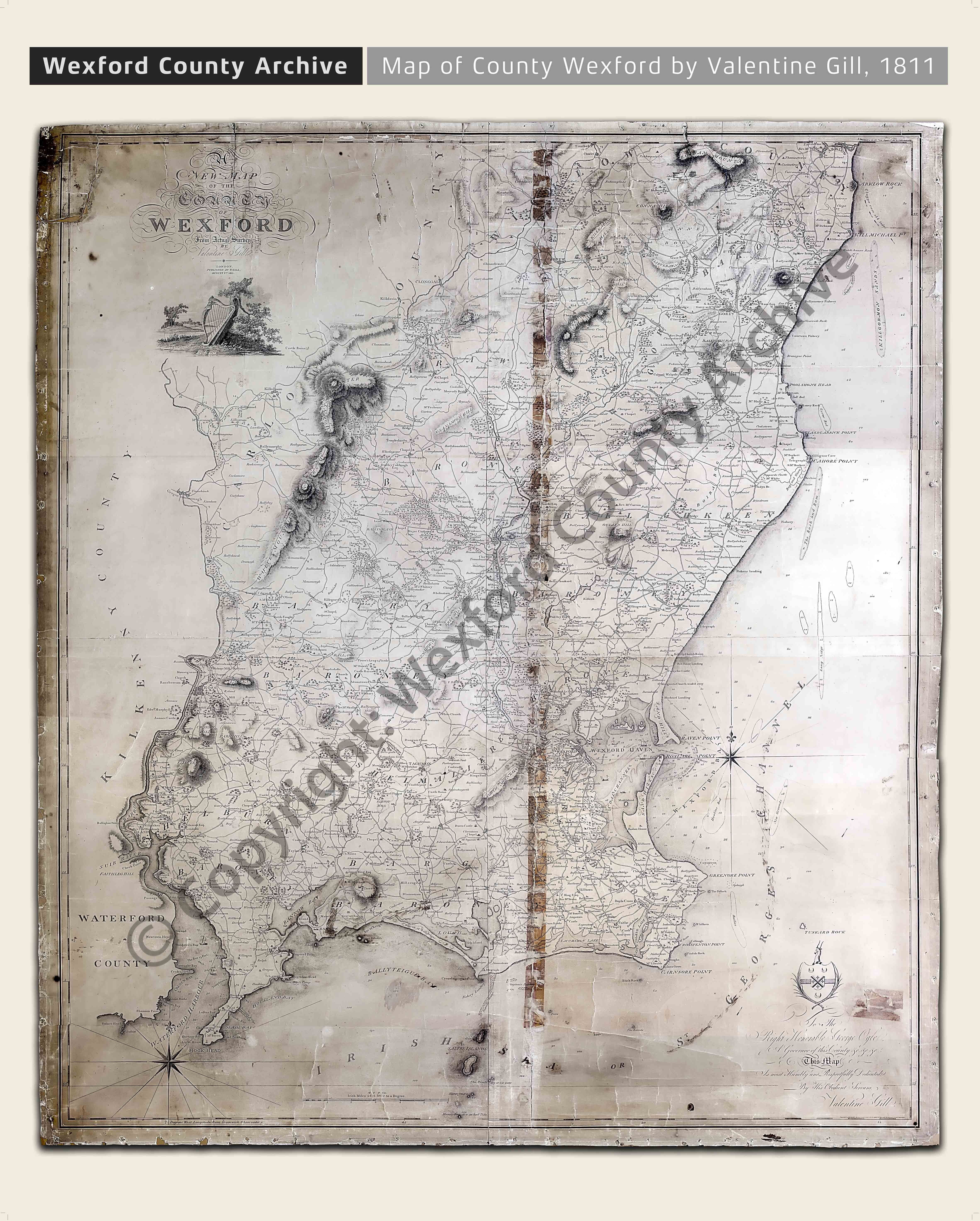 Valentine Gill Map Of Co Wexford 1811 Wexford County Archive