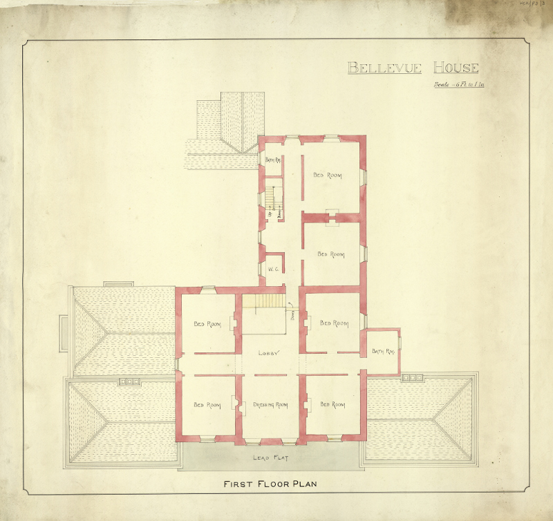 Bellevue House First Floor Plan 800 Wexford County Archive