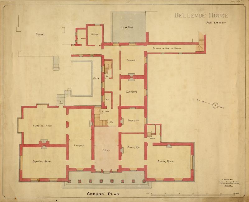 Bellevue House Ground Floor Plan 800 Wexford County Archive